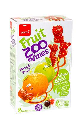 Pams fruit zoo vines med