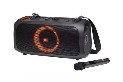 JBL Partybox On-The-Go with microphone