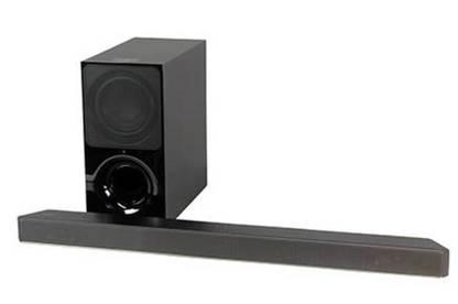 Photograph of a Samsung sound bar.