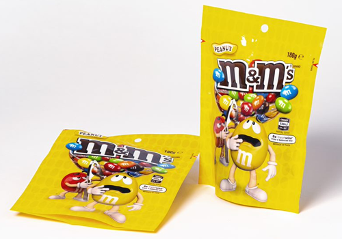 Image of M&M packaging.