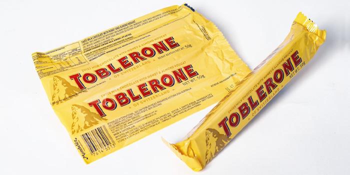 Photo of Toblerone packaging.