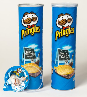 Photo of Pringles packaging.