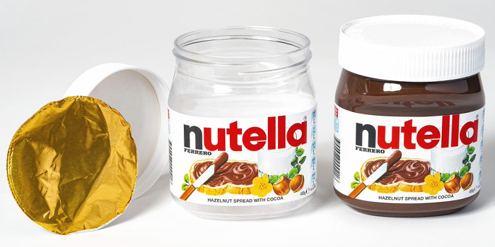 Photo of Nutella jar.
