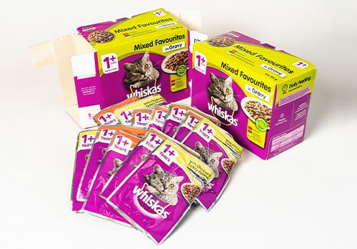 Photo of Whiskas packaging.