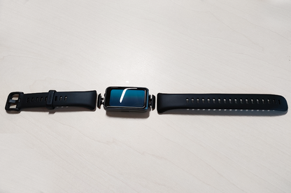 Photograph of disassembled Smartwatch Huawei Band 6.