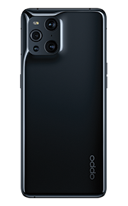 Photograph of the back of Oppo Find X3 Pro.