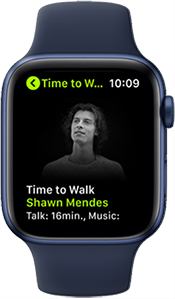 Image of Apple Watch featuring Time to Walk with Shawn Mendes.