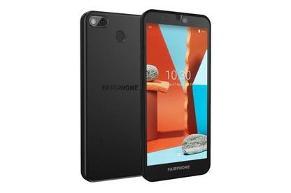 Photograph of Fairphone 3+ smartphone.