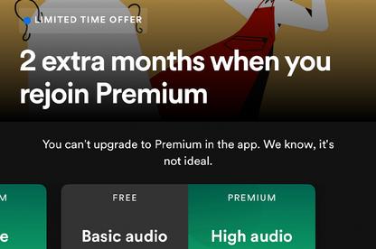 Screenshot of Spotify interface.