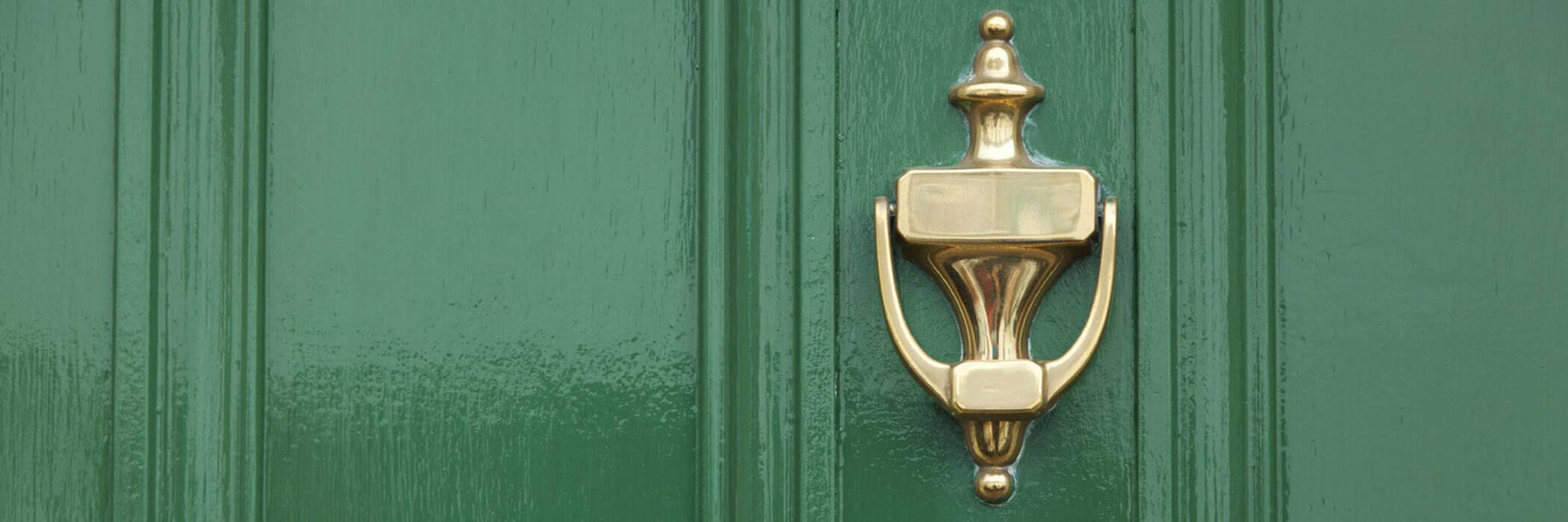 Students send message to doorknockers hero