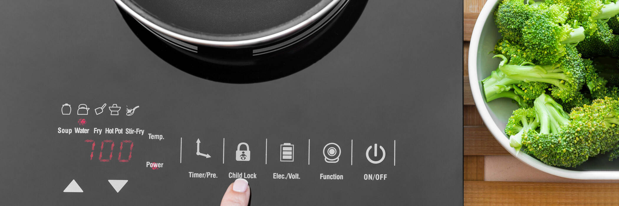 Single element induction cooker