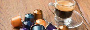 Espresso with coffee capsules