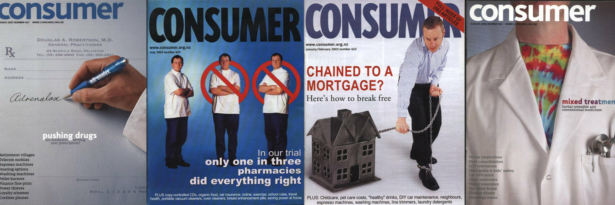 Assorted Consumer NZ covers.