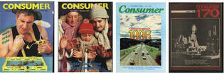 Consumer NZ magazine covers from the 1980s.