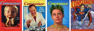 Consumer magazine covers from 1990s.