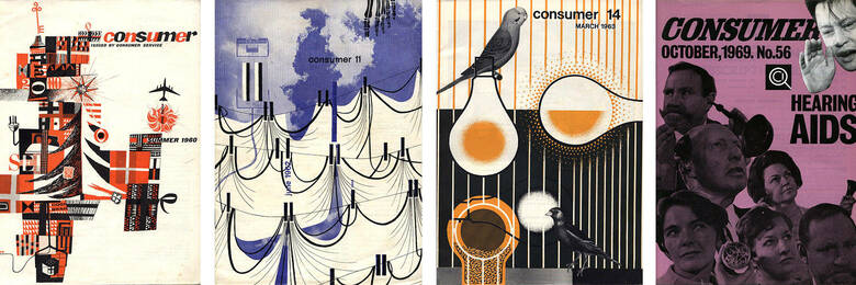 Consumer magazine covers from 1960s.