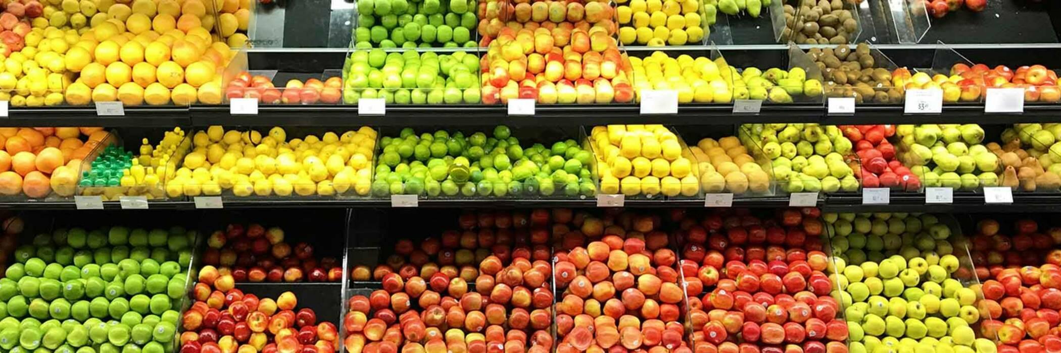 Grocery department in supermarket