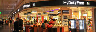 Duty-free store at airport