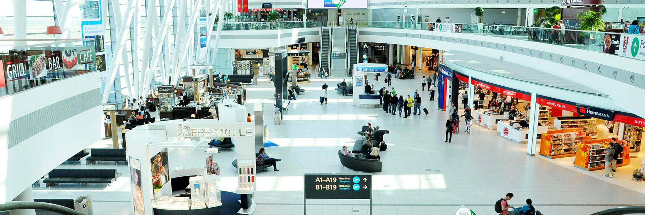 Airport with duty-free store.