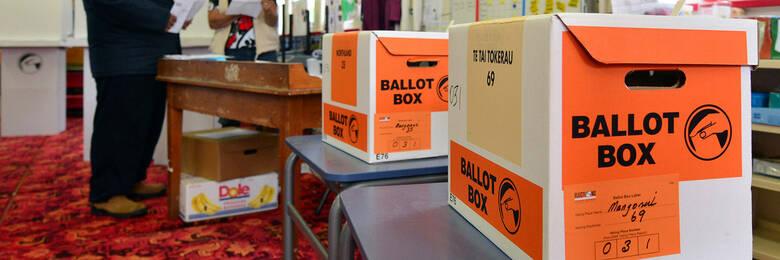 New Zealand general election ballot box