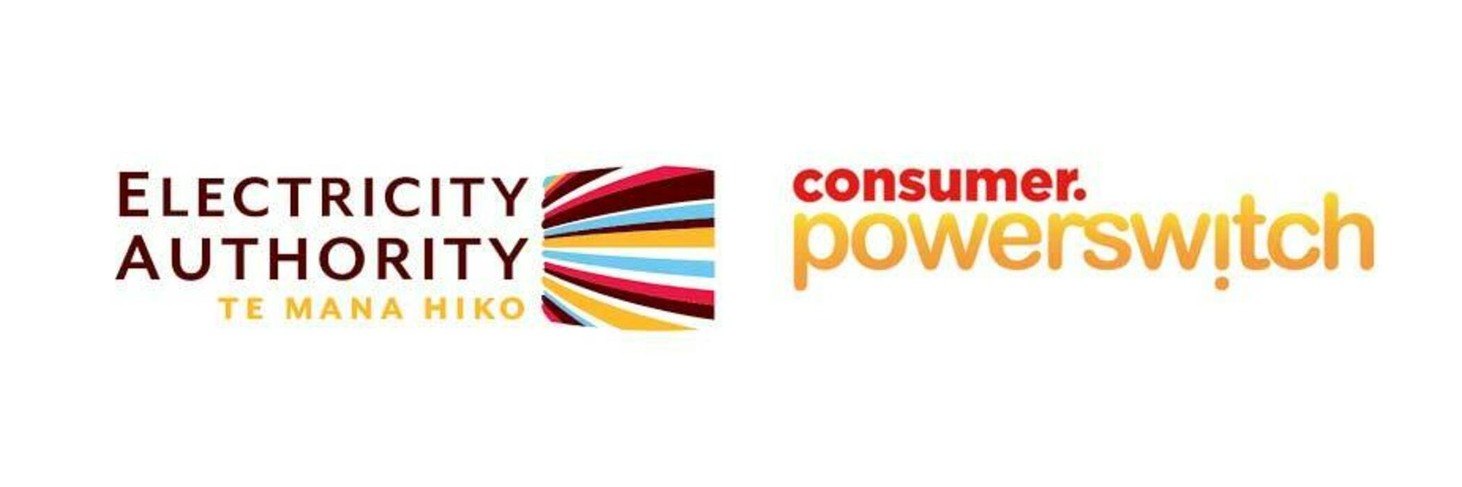 Electricity Authority and Consumer Powerswitch logos.