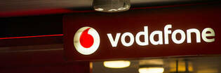 Vodafone shop sign.