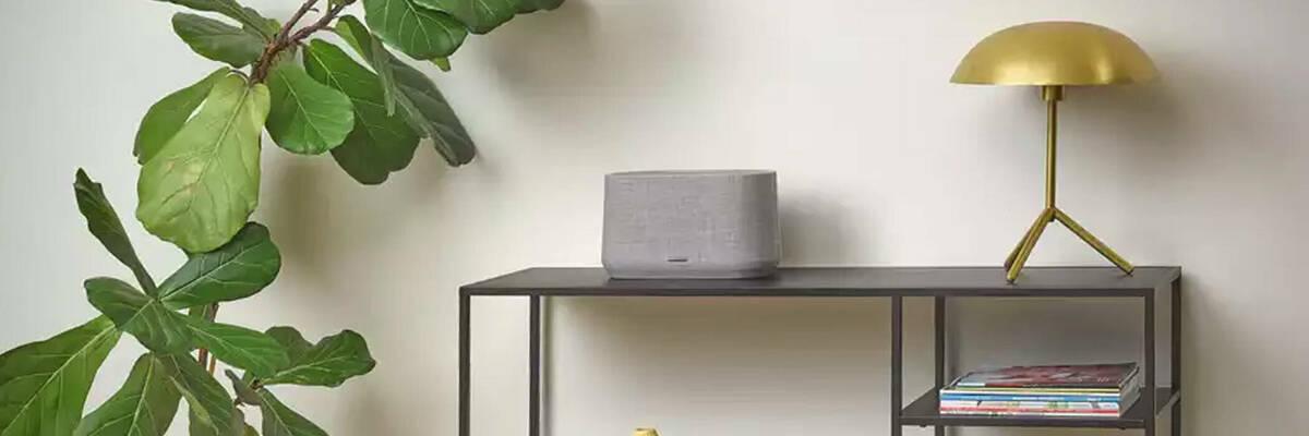 Citation 300 speaker on a shelf.