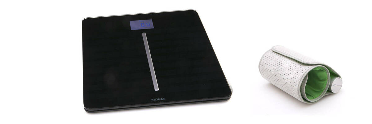 Nokia Health Body Cardio scales and BP-801 wireless blood pressure monitor