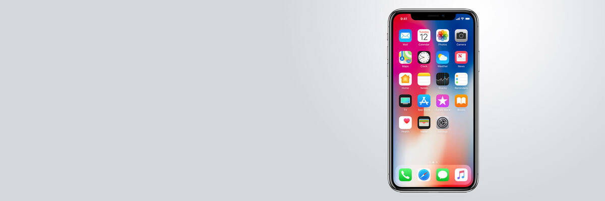 Front view of Apple's iPhone X