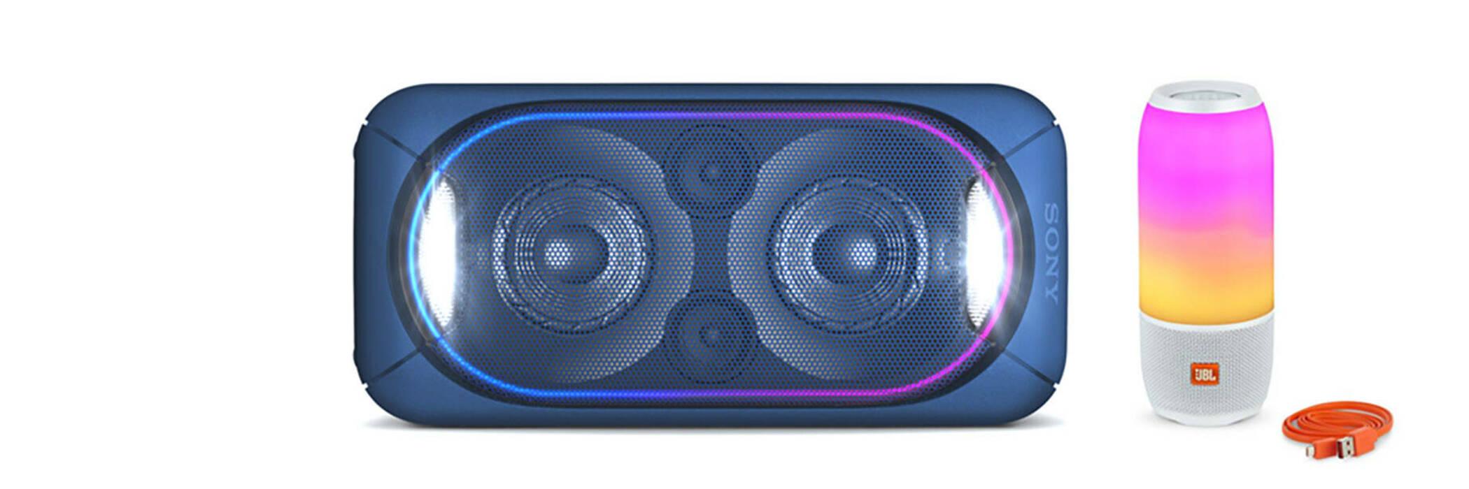Sony GTK-XB60 & JBL Pulse 3 speakers