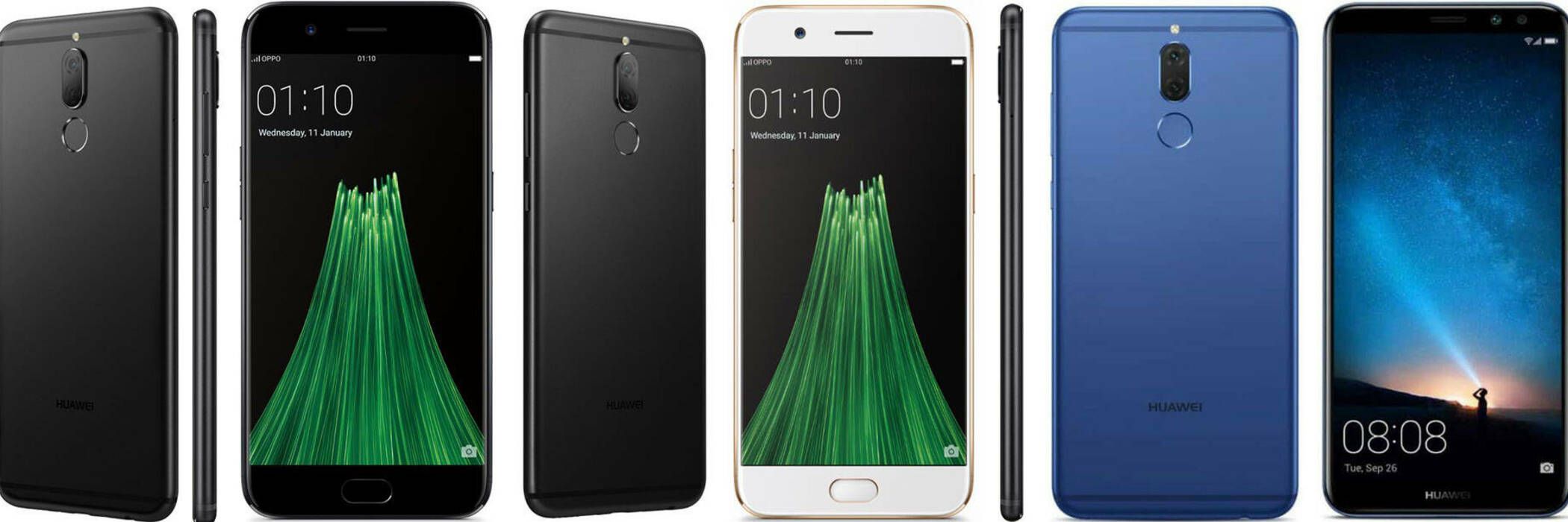 Huawei Nova 2i and Oppo R11