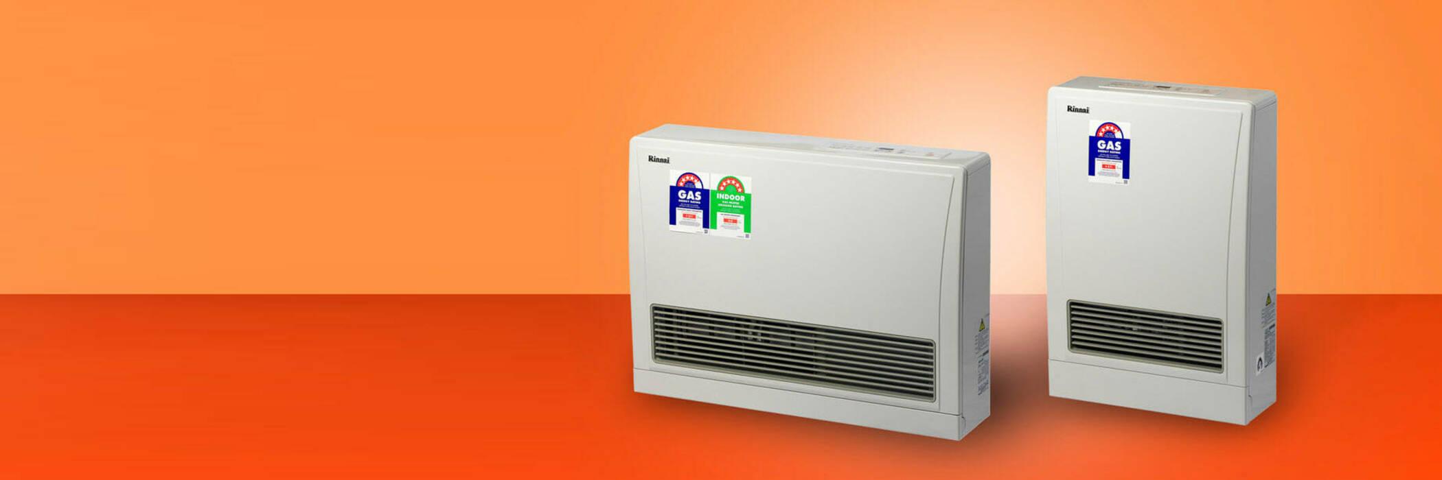 Rinnai Energysaver 559FT and Energysaver 309FT flued gas heaters.
