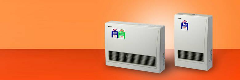 Rinnai Energysaver 559FT and Energysaver 309FT flued gas heaters