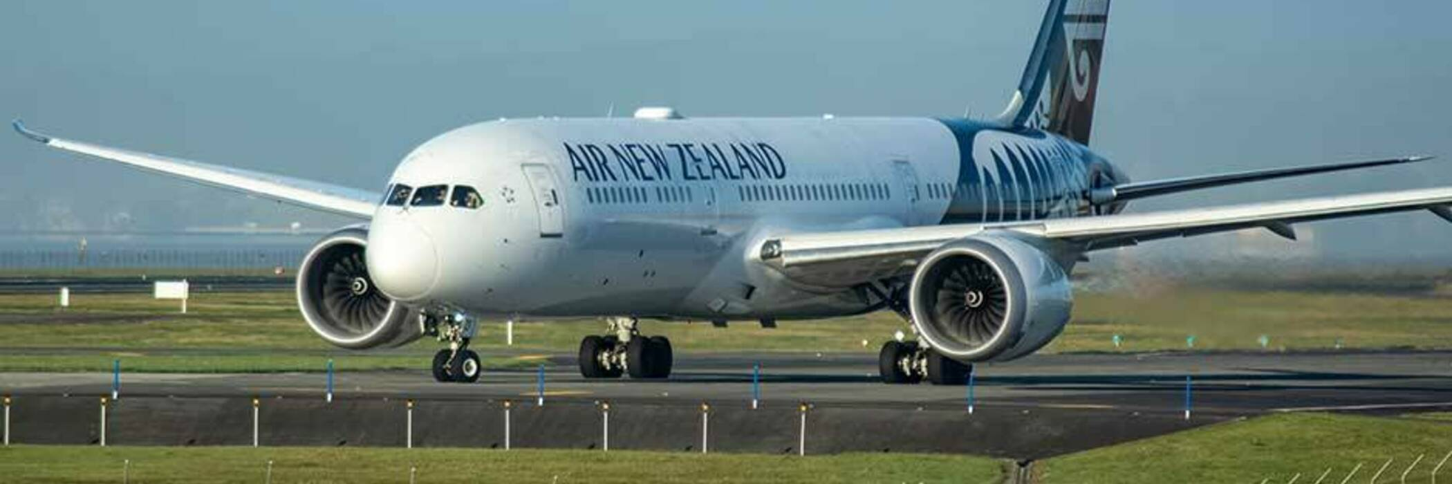 Grounded Air New Zealand flight.