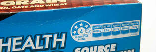Cereal box with health star rating