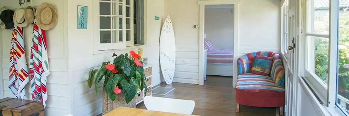 holiday beach house interior