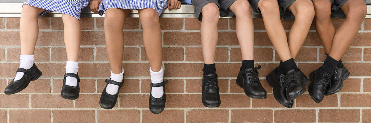 Students' school shoes