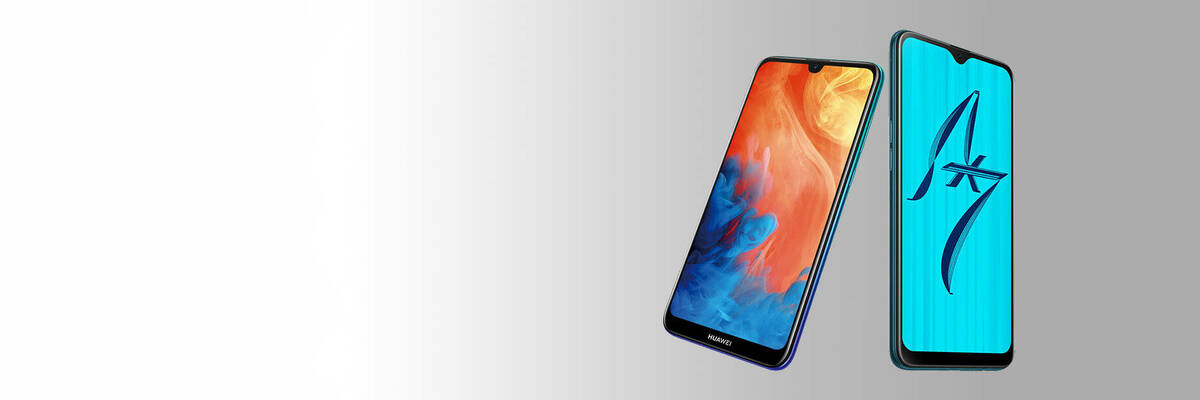 Huawei Y7 Pro 2019 and Oppo AX7 phones