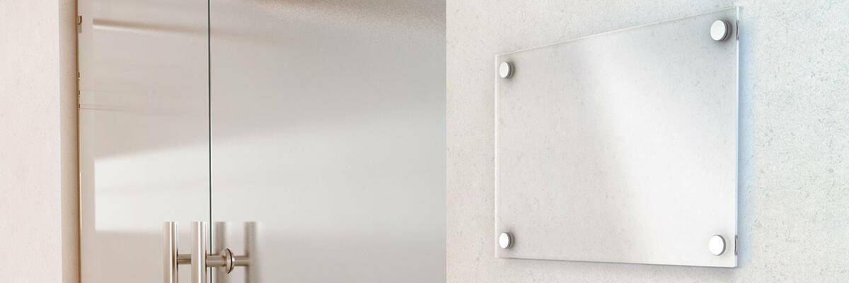 glass panel on wall