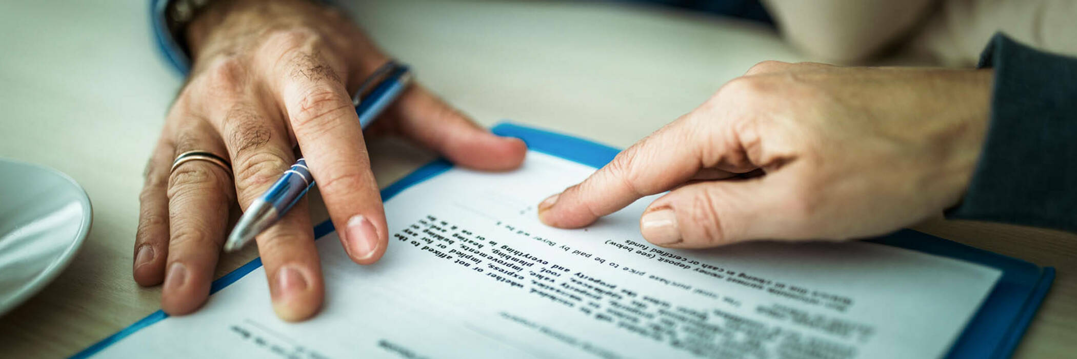 signing insurance contract