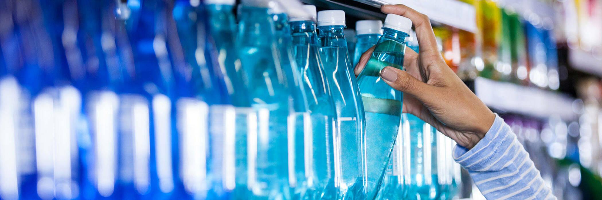 taking bottled water off shelf