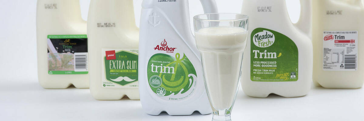 Anchor, Home Brand, Meadow Fresh, Pams and Signature Range milk