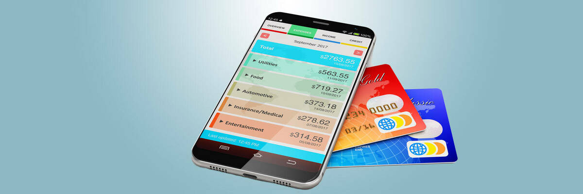 mobile phone with budget app