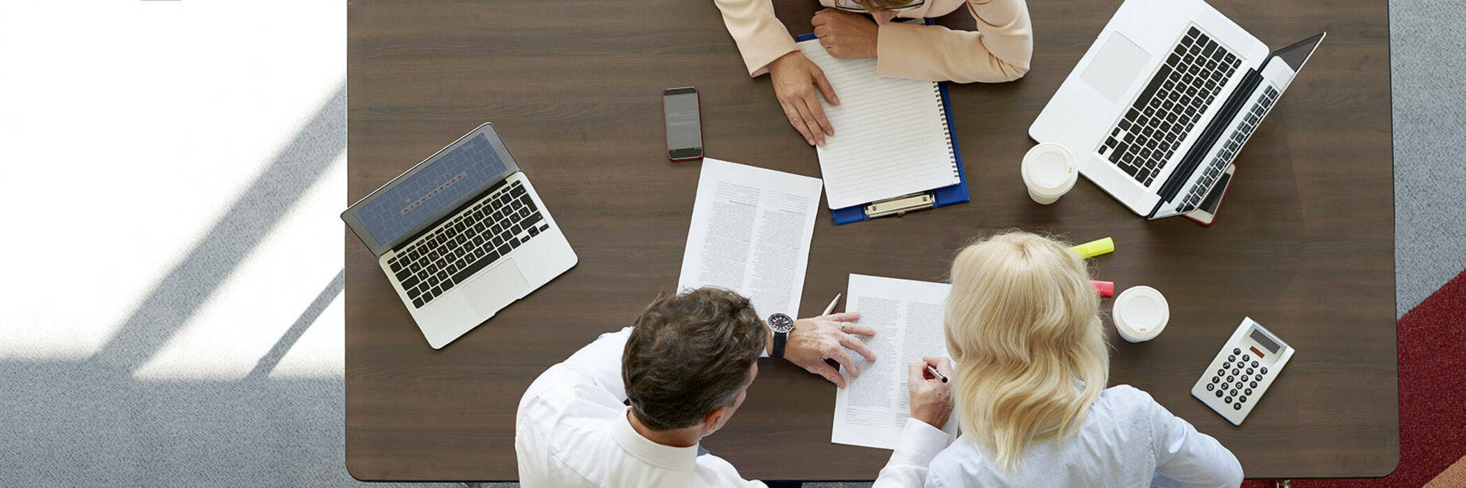 Meeting with a mortgage broker