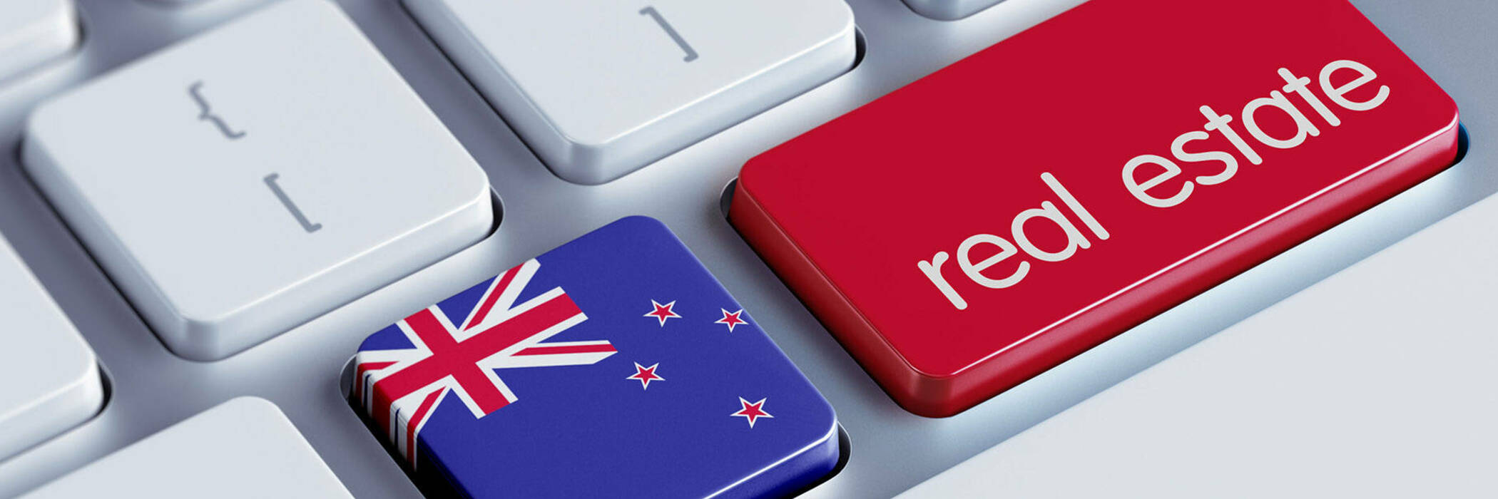 Keyboard with NZ flag and real estate keys