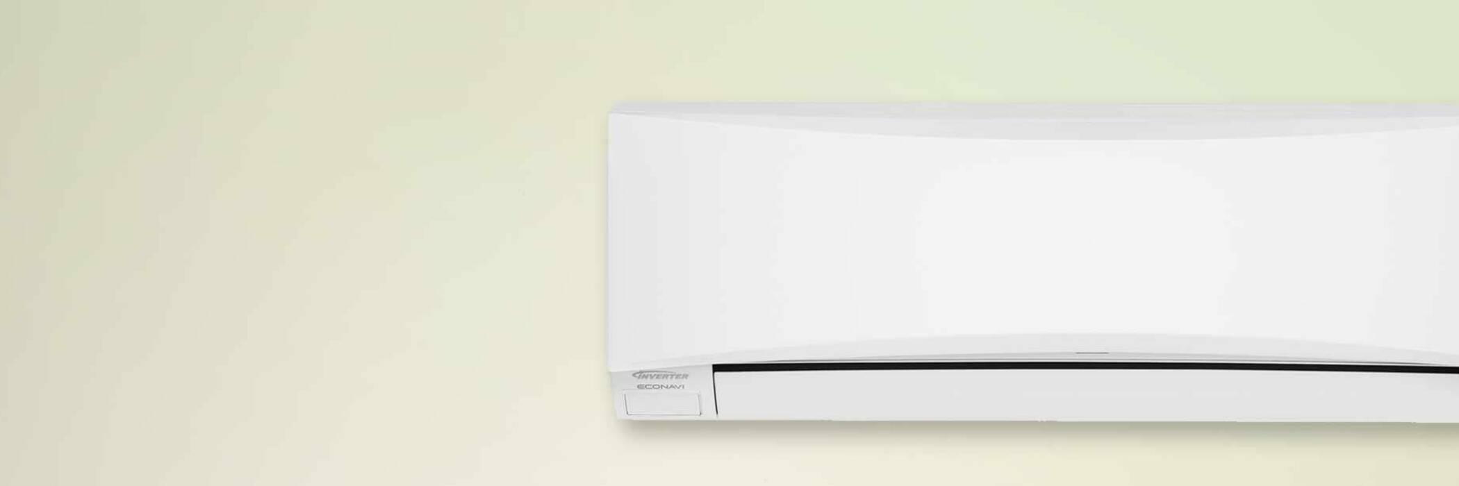 heat pump on wall
