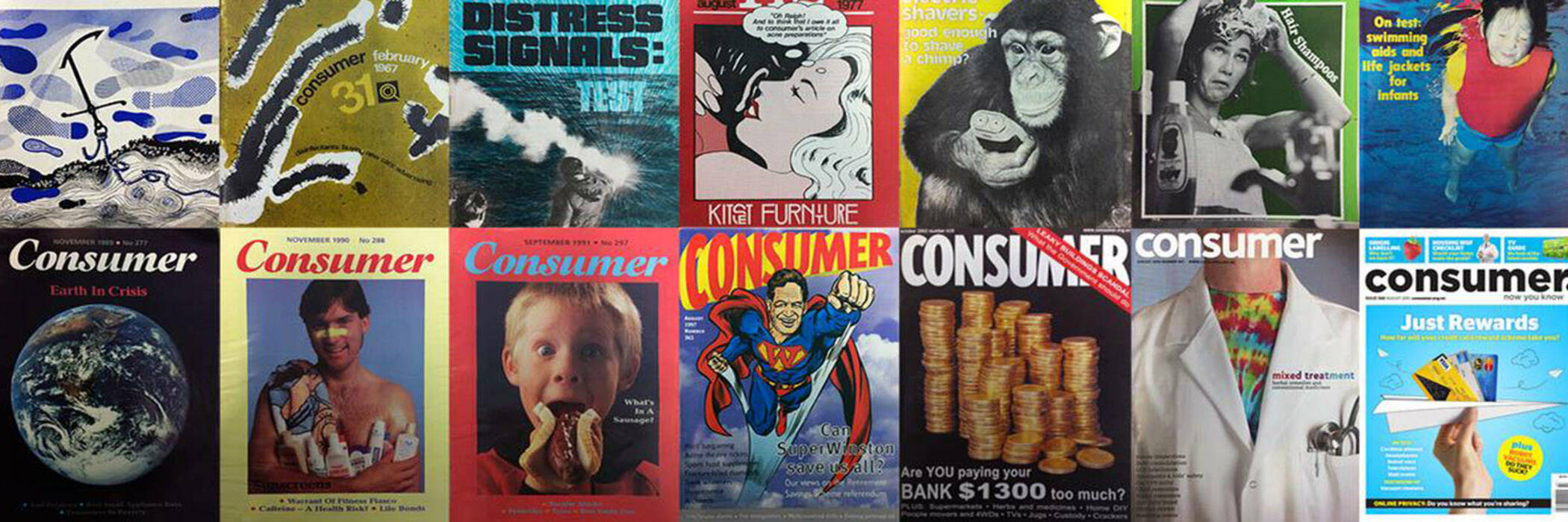 Consumer magazine covers