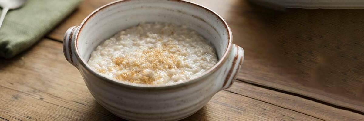 bowl of porridge with brown sugar on top