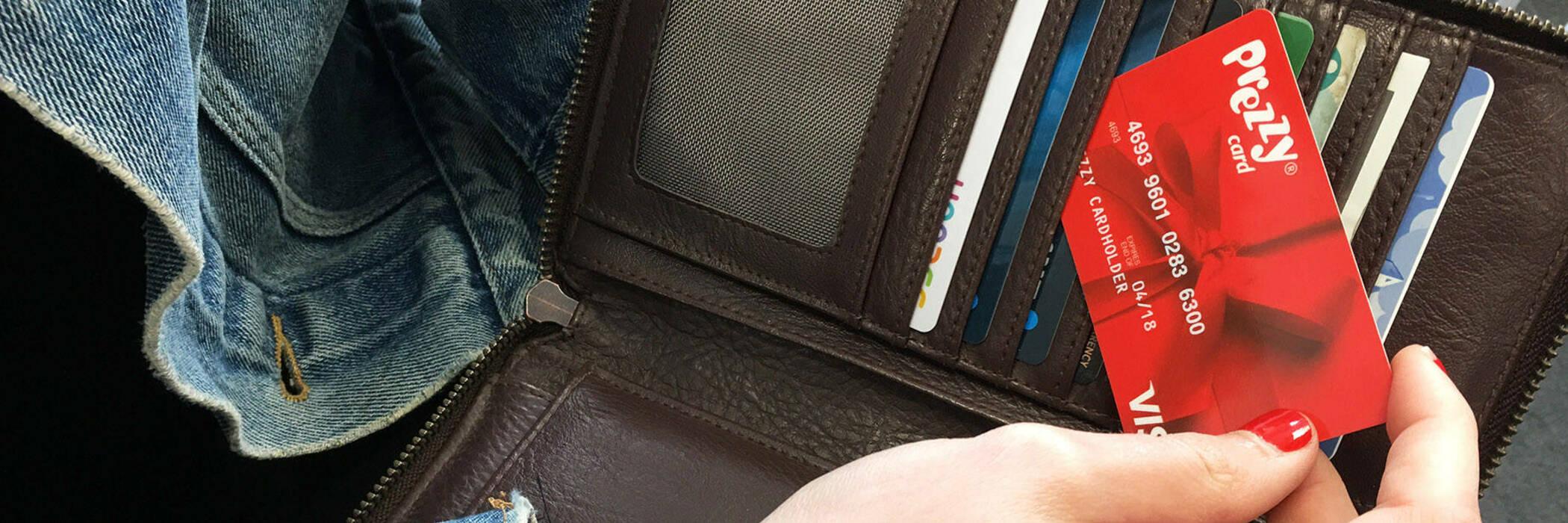Prezzy Card in wallet