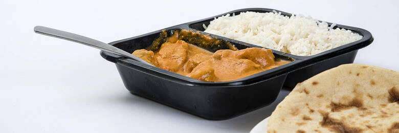 A butter chicken ready meal